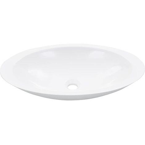 Waschbecken 59,3 x 35,1 x 10,7 cm Mineralguss/Marmorguss Weiß