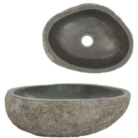 Waschbecken Flussstein Oval 30-37 cm