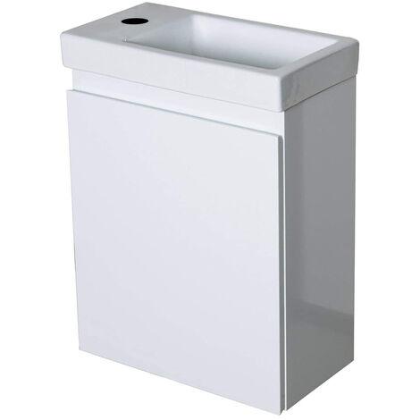 Waschbecken mit Schrank Waschtisch Aufsatzwaschbecken Handwaschbecken aus Keramik Weiß