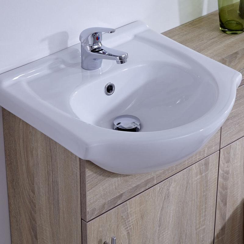 Waschbecken und Toiletten Set - Eiche 940mm - Abgerundet Option 2 ...