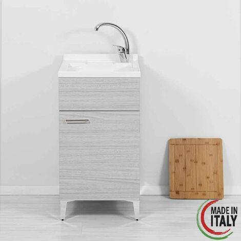 Waschbeckenschrank 45 x 50 cm in grauer Farbe Feridras Stella 799095   Grau