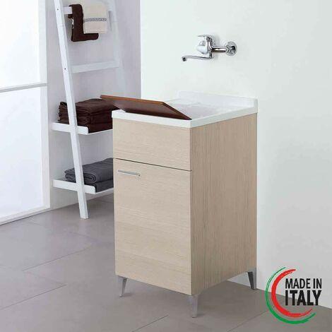 Waschbeckenschrank 45 x 50 cm in heller Eichenfarbe Farbe Feridras Stella 799066   helle Eiche