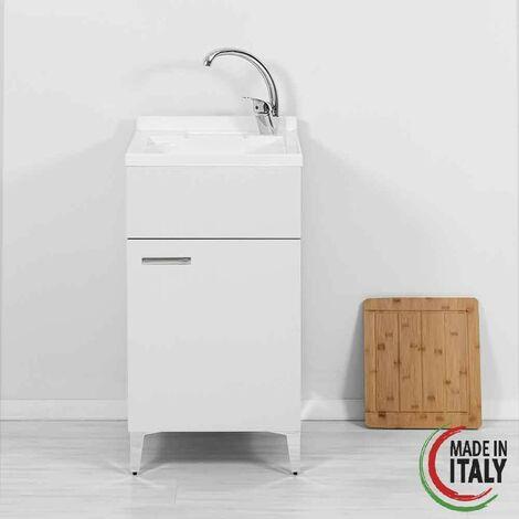Waschbeckenschrank 45 x 50 cm in weißer Farbe Feridras Stella 799038   weiß
