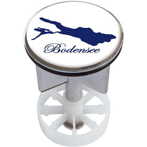 Waschbeckenstöpsel Design Bodensee | Abfluss-Stopfen aus Metall | Excenterstopfen | 38 – 40 mm