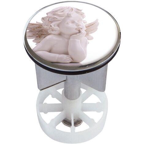 Waschbeckenstöpsel Design Engelchen | Abfluss-Stopfen aus Metall | Excenterstopfen | 38 – 40 mm
