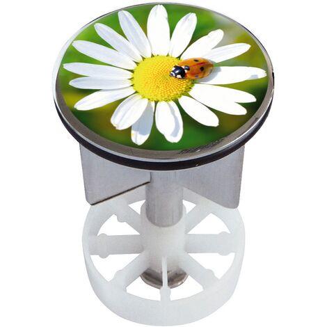 Waschbeckenstöpsel Design Glücksbringer | Abfluss-Stopfen aus Metall | Excenterstopfen | Abflussstöpsel | 38 – 40 mm | Stöpsel