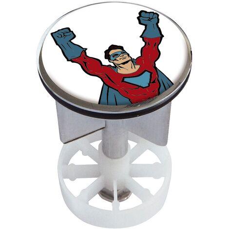 Waschbeckenstöpsel Design Hero | Abfluss-Stopfen aus Metall | Excenterstopfen | 38 – 40 mm