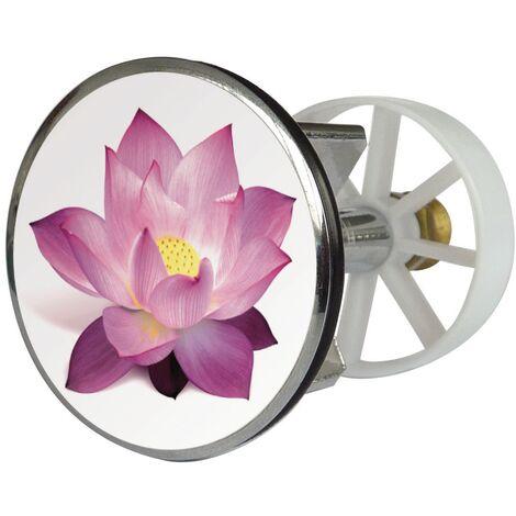 Waschbeckenstöpsel Design Lotusblüte | Abfluss-Stopfen aus Metall | Excenterstopfen | 38 – 40 mm