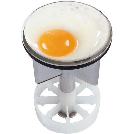 Waschbeckenstöpsel Design Spiegelei | Abfluss-Stopfen aus Metall | Excenterstopfen | 38 – 40 mm