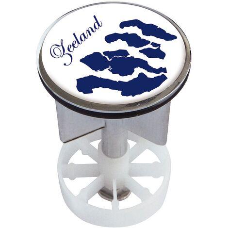 Waschbeckenstöpsel Design Zeeland | Abfluss-Stopfen aus Metall | Excenterstopfen | 38 – 40 mm