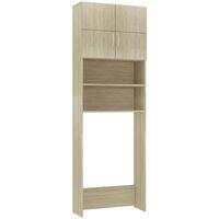 Waschmaschinenschrank Sonoma-Eiche 64x25,5x190 cm Spanplatte