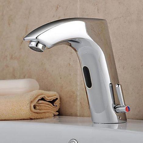 Waschtisch-Armatur aus Messing, mit automatischem Sensor (für Kalt- und Warmwasser)