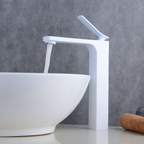Waschtisch-Armatur Weiß, Waschbecken, für Aufsatzbecken
