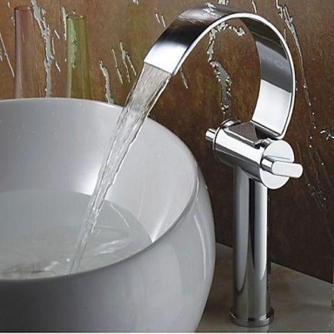Waschtisch-Armatur Zweihebelarmatur, elegantes Design, verchromt