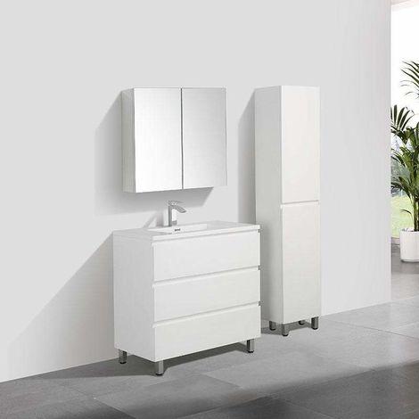 Waschtisch + Unterschrank 90 cm montiert VERONA weiß