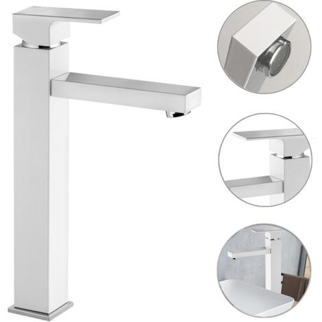 Waschtischarmatur für Aufsatzbecken 32cm Höhe SAVORY-30 matt weiß, B/H/T ca. 4,2 /32,1/19,1 cm