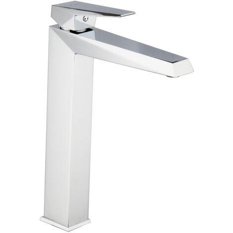 Waschtischarmatur für Aufsatzwaschbecken Eckig Prisma Lang
