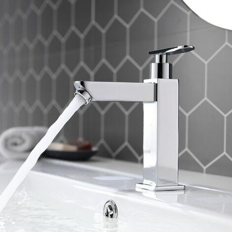 Waschtischarmatur Waschbeckenarmatur Wasserhahn Kaltwasser Badzimmerarmatur Bedearmatur Chrome