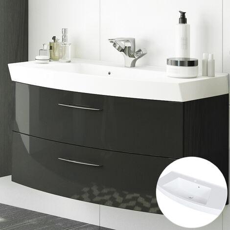 Waschtischunterschrank 100cm mit Waschbecken FLORIDO-03 Hochglanz grau, B x H x T: ca. 100 x 54 x 47 cm