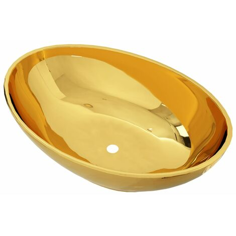 Wash Basin 40x33x13.5 cm Ceramic Gold