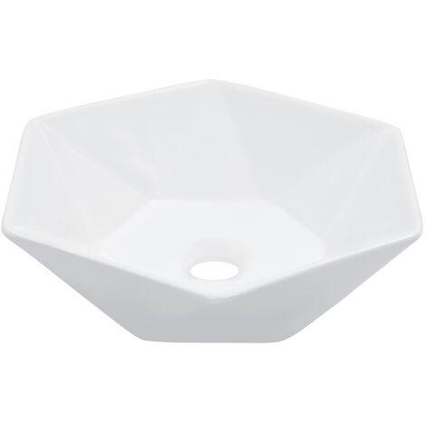 Wash Basin 41x36.5x12 cm CeramicWhite