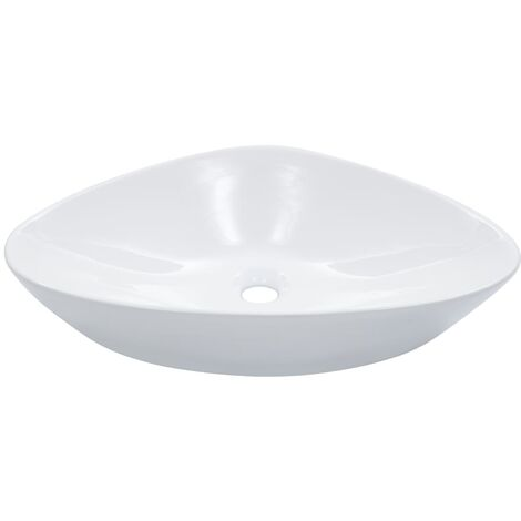 Wash Basin 58.5x39x14 cm Ceramic White