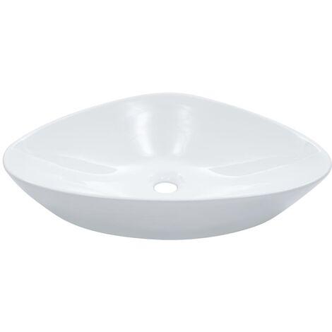 Wash Basin 58.5x39x14 cm Ceramic White - White
