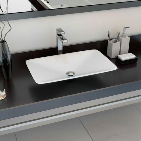 Wash Basin 60x38x10 cm Mineral Cast/Marble Cast White