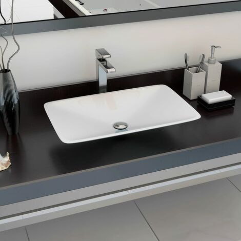 Wash Basin 60x38x10 cm Mineral Cast/Marble Cast White