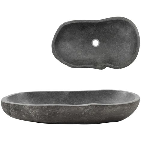 Wash Basin River Stone Oval 60-70 cm