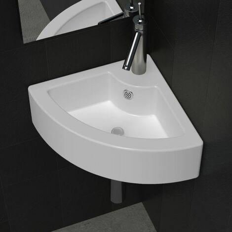 Wash Basin with Overflow 45x32x12.5 cm White