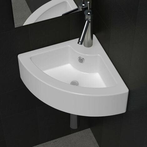 Wash Basin with Overflow 45x32x12.5 cm White - White