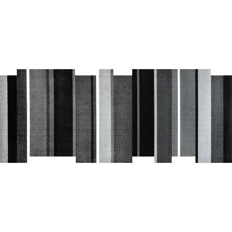 Wash+Dry Dancing Steps Black Tapis, Surface en Polyamide, Gris, 80/200