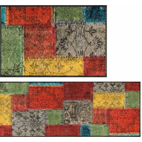 Wash+Dry Vintage Patches Tapis, Surface en Polyamide, Coloré, 40/60