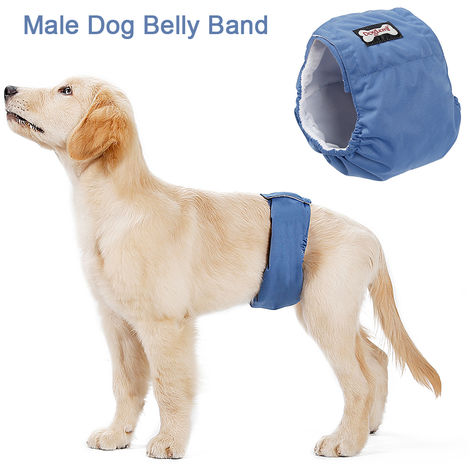 Washable Male Dog Belly Band Wrap Waterproof Pet Diaper Toilet Training Dog Physiological Pant,M