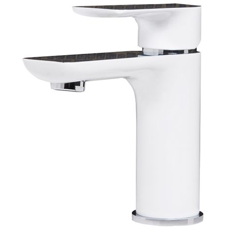 Washbasin faucet Carpi Modern Chrome / White Basin Mixer Tap Bathroom Sink Faucet Water tap