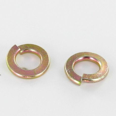 WASHER SPLIT LOCK FOR SCREW M10 YELLOW ZINC DIN 127 B