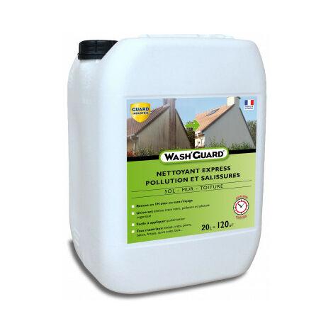Wash'Guard - Nettoyant désincrustant - Désinfectant exterieur - 20L - jusqu'à 120m² - 4x5L
