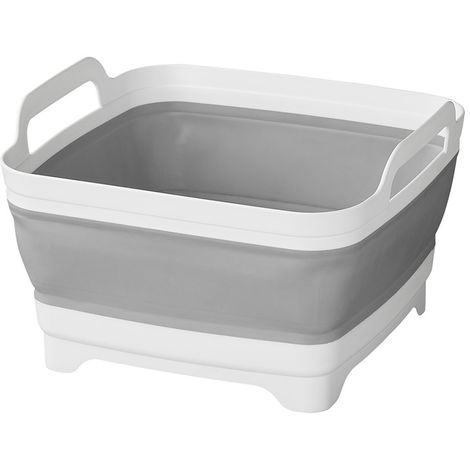 Washing bowl with straining plug collapsible