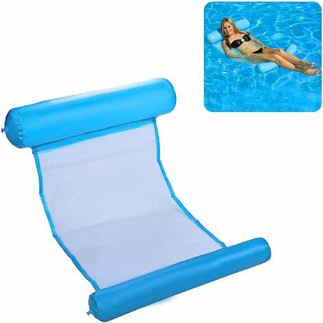 Wasserhängematte Pool Erwachsene Schwimmendes Bett Aufblasbare Luftmatratze Pool für Erwachsene und Kinder 200kg 130 * 73cm