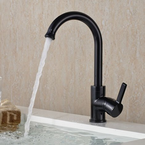 Wasserhahn Badarmatur Mischbatterie Wasserhahn 360° drehbar Armatur ...