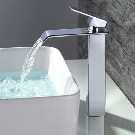 Badarmatur wasserfall Wasserhahn Bad hoch Waschtischarmatur Waschbeckenarmatur Einhandmischer Bad Armatur Mischbatterie Bad