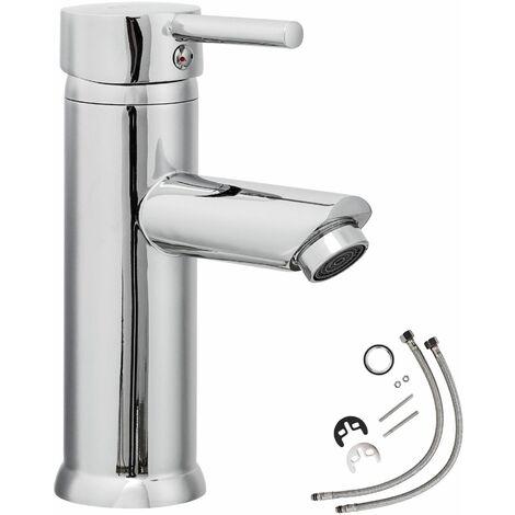 Wasserhahn klassisch - Badarmatur, Waschtischarmatur, Mischbatterie - grau
