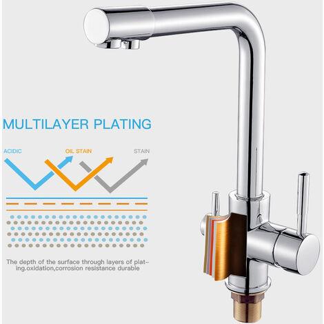 Wasserhahn chrom Armatur für Umkehr Osmose Wasserfilter Anlage Küchen