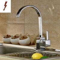 Wasserhahn Küche Niederdruck Armatur Einhebel Spültischarmatur 360° Schwenkbar Küchearmatur Mischbatterie für Küche Spüle