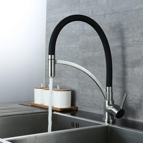 Wasserhahn Küche Schwarz Spiralfederarmatur Schwarz Küchenarmatur Armatur Spüle Spültischarmatur Mischbatterie