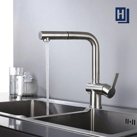 Extrem Wasserhahn Küche Spültischarmatur Ausziehbare Küchenarmatur OI01