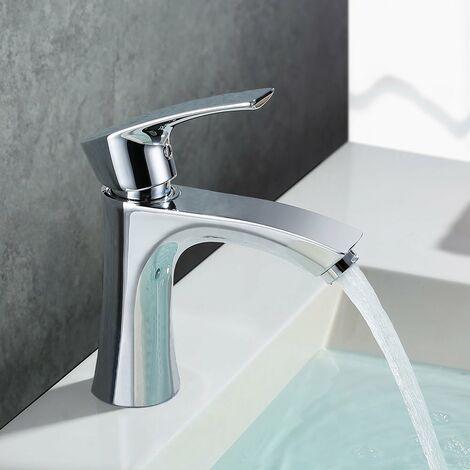 Wasserhahn Waschbecken Armatur Bad Mischbatterie Waschtischarmatur Badarmatur Einhandmischer Waschtisch Armaturen f. Badezimmer