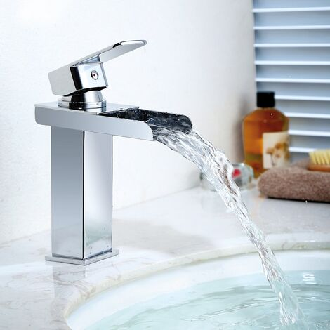 Wasserhahn Wasserfall Waschtischarmatur Mischbatterie Waschbeckenarmatur Badarmatur Waschtischmischer Wascbecken Armatur für Bad