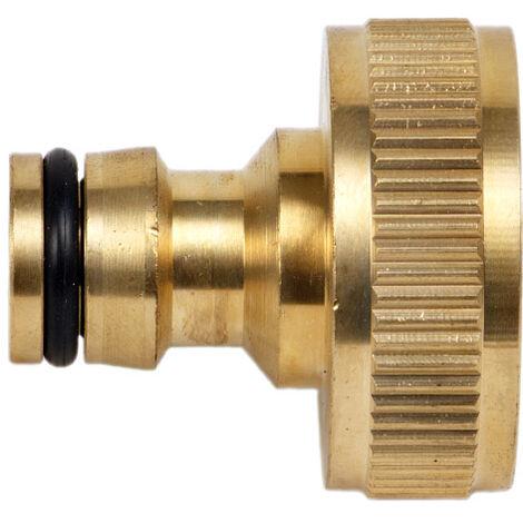 Hahnanschluss 2 Stück 1 Zoll 3//4 Zoll Stecksystem Schnellkupplung Schlauch